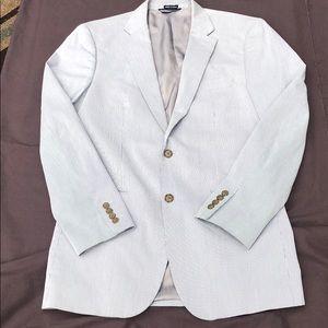 Náutica Mens Blue Pin Stripe Blazer